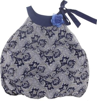 Soul Fairy Party Sleeveless Paisley Baby Girl's Dark Blue Top