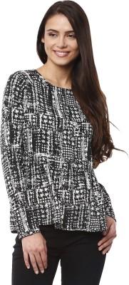 Prym Casual Full Sleeve Self Design Women's Black Top