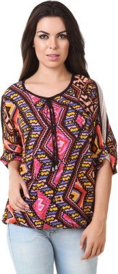ASH Party 3/4 Sleeve Printed Women's Multicolor Top