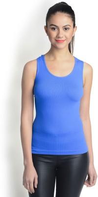 La Zoya Sports Sleeveless Solid Women's Dark Blue Top