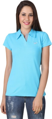 Yati Casual Short Sleeve Solid Women's Blue Top