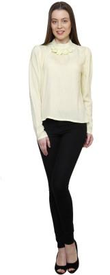 Gossip Girls Formal Full Sleeve Solid Women,s Yellow Top