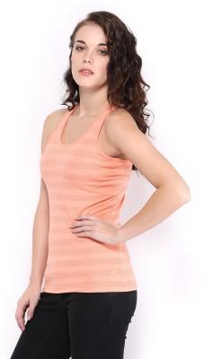 HRX by Hrithik Roshan Casual Sleeveless Printed Women's Orange Top