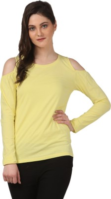 FashionExpo Casual Full Sleeve Solid Women's Yellow Top