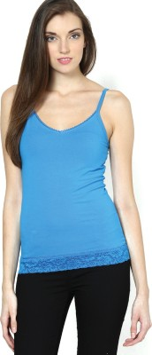Vero Moda Casual Sleeveless Solid Women's Blue Top at flipkart