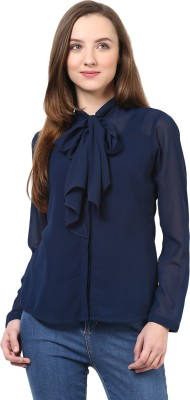 Rare Casual Full Sleeve Solid Women's Blue Top at flipkart