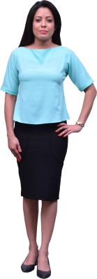 Change360?? Formal, Casual, Party Short Sleeve Solid Women's Green Top