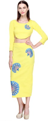 Closet Drama Party 3/4 Sleeve Printed Women's Yellow Top