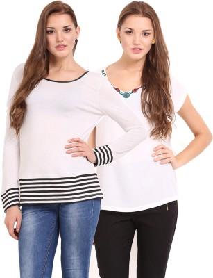 Femenino Casual Full Sleeve Solid Women's Beige Top