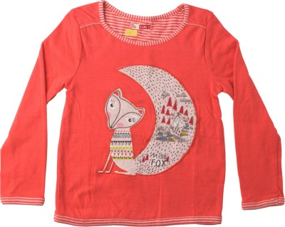 Lulu Casual Full Sleeve Solid Girl's Red Top