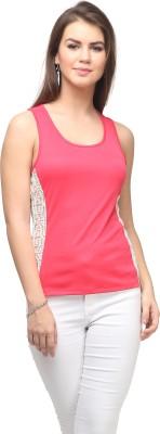 Eavan Casual Sleeveless Solid Women's Pink Top