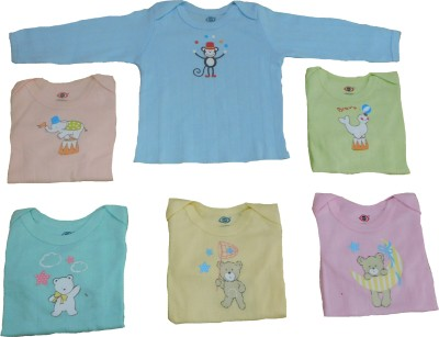 Zero Casual Full Sleeve Solid Baby Girl's Blue, Orange, Pink, Yellow, Green, Light Blue Top