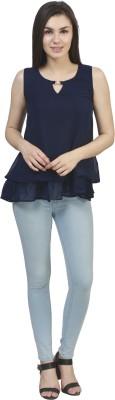 kellan Casual Sleeveless Solid Women's Dark Blue Top