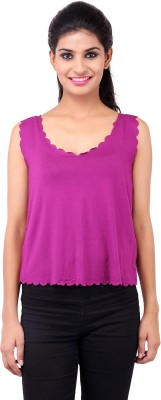 Zachi Casual Sleeveless Solid Women's Pink Top