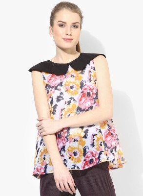 Popnetic Casual Sleeveless Floral Print Women's Multicolor Top