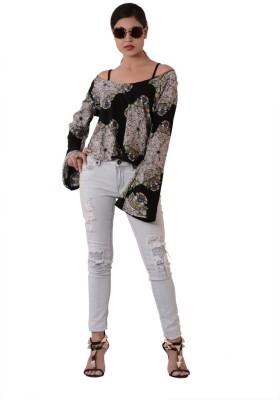 Fashnopolism Casual Full Sleeve Solid Women's Black Top