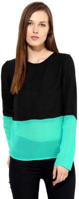 Bebo Casual Full Sleeve Solid Women's Black Top