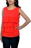 Yaari Casual Sleeveless Solid Women's Re...