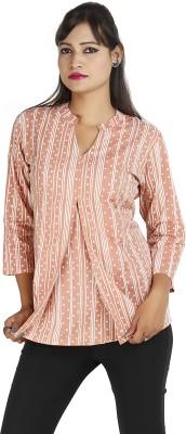 Ra Studio Casual 3/4 Sleeve Printed Women's Pink Top