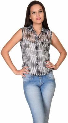 Teens & Queens Casual Sleeveless Solid Women's Black Top