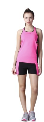 Atheno Casual Sleeveless Solid Women's Pink Top