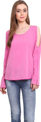 Desi Urban Casual Solid Women's Pink Top