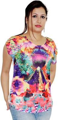 Pindia Printed Women,s Round Neck T-Shirt