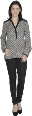 French Creations Casual Full Sleeve Printed Women's Beige Top
