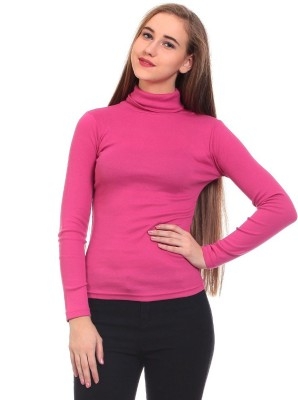 Claude 9 Casual Full Sleeve Solid Girl's Pink Top