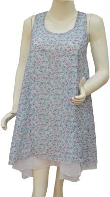 Polita Casual Sleeveless Floral Print Women's Blue, White Top