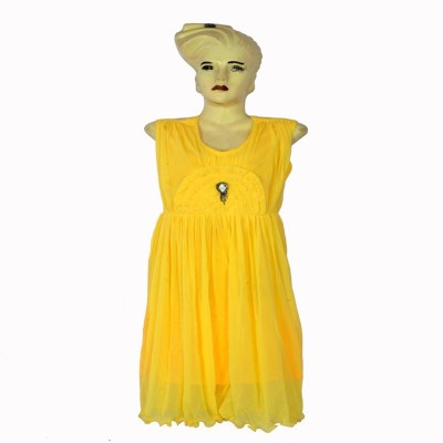 Kalras Casual Sleeveless Solid Women's Yellow Top
