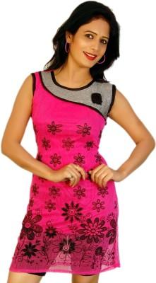 Feminine Casual 3/4 Sleeve Printed Women's Pink Top