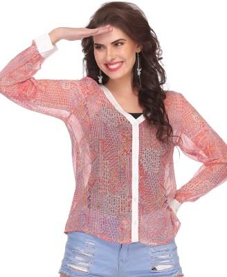 Clovia Casual Full Sleeve Printed Women's Pink Top