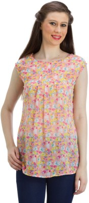 PRAGS Casual Sleeveless Floral Print Women's Multicolor Top