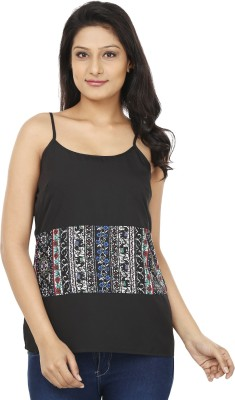 Today Fashion Casual Sleeveless Printed Women's Black, White Top