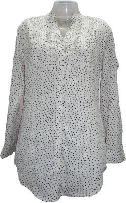 Deesha Casual Full Sleeve Printed Women's White, Black Top