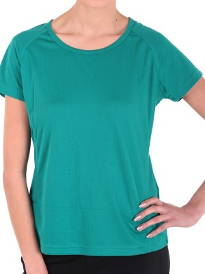 Sjoe Sports Cap sleeve Solid Women's Green Top