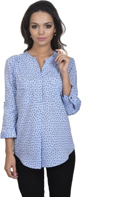 Antilia Femme Casual 3/4 Sleeve Printed Women's Blue Top