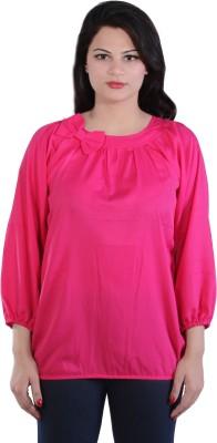 James Scot Formal Full Sleeve Solid Women's Pink Top
