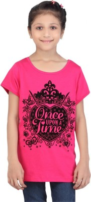 Life by Shoppers Stop Casual Short Sleeve Self Design Girl's Pink Top