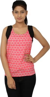 Aussehen Casual Sleeveless Printed Women's Black, Pink Top