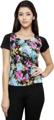 Rigo Casual Short Sleeve Floral Print Women's Multicolor Top