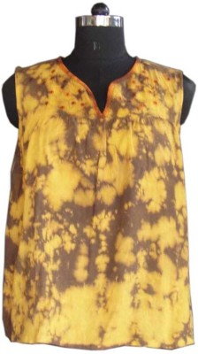 Beautiful Clothes Casual Sleeveless Solid Women's Top