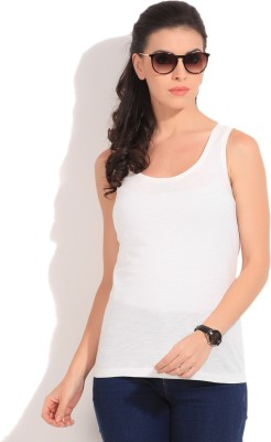 Jeanswest Australia Casual Sleeveless Solid Women's White Top at flipkart