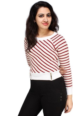 Styles Clothing Casual Full Sleeve Solid Women's Red Top