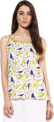 JaipurKurti Casual Sleeveless Animal Print Women's Multicolor Top