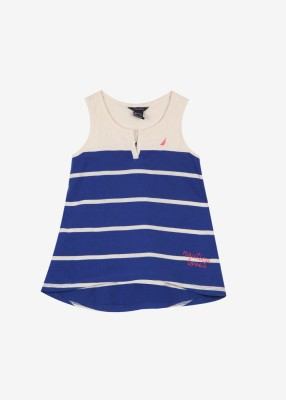 Nautica Casual Sleeveless Striped Girl's Top