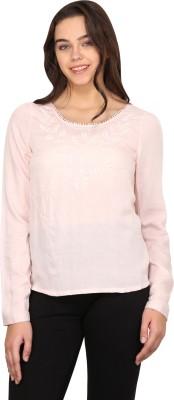 Nordic Bazaar Casual Full Sleeve Solid Women's Pink Top
