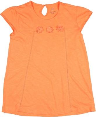 Allen Solly Casual Short Sleeve Solid Girl's Orange Top