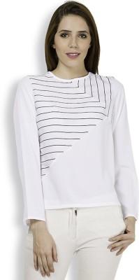 Tokyo Talkies Casual Full Sleeve Printed Women's White Top